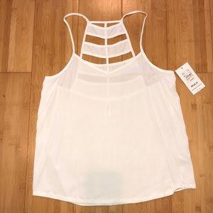 NWT RVCA white strappy top